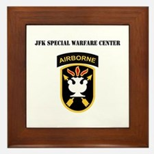 SSI - JFK Special Warfare Center with Text Framed