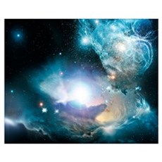 Primordial quasar, artwork Framed Print