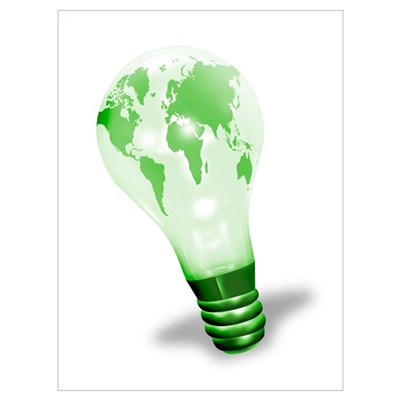Green energy, conceptual artwork Poster