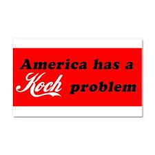Koch Problem Black Car Magnet 20 x 12