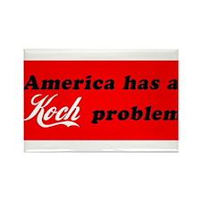 Koch Problem Black Rectangle Magnet