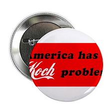 "Koch Problem Black 2.25"" Button"