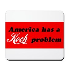 Koch Problem Black Mousepad