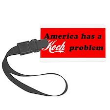 Koch Problem Black Luggage Tag