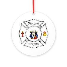 Future Firefighter Dalmatian Ornament (Round)