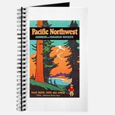 Pacific Northwest Travel Poster 3 Journal