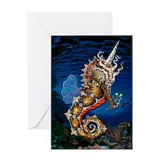 Unicorn Pegasus Seahorse Greeting Card