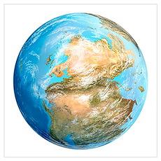 Pangea supercontinent, artwork Poster