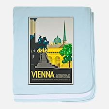 Vienna Travel Poster 1 baby blanket