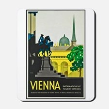 Vienna Travel Poster 1 Mousepad
