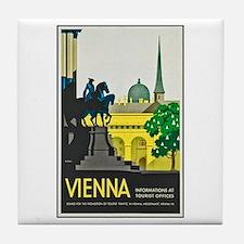 Vienna Travel Poster 1 Tile Coaster