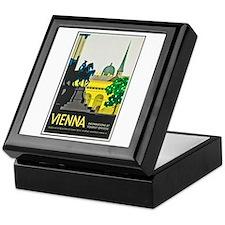 Vienna Travel Poster 1 Keepsake Box