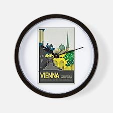 Vienna Travel Poster 1 Wall Clock