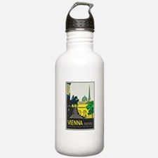 Vienna Travel Poster 1 Water Bottle
