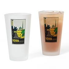 Vienna Travel Poster 1 Drinking Glass