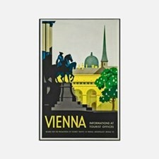 Vienna Travel Poster 1 Rectangle Magnet