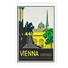 Vienna Travel Poster 1 Postcards (Package of 8)