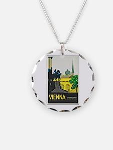 Vienna Travel Poster 1 Necklace