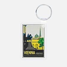 Vienna Travel Poster 1 Keychains