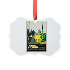 Vienna Travel Poster 1 Ornament