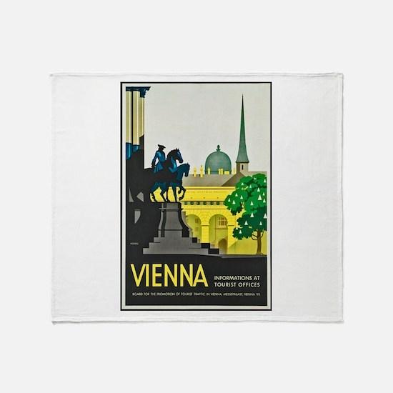 Vienna Travel Poster 1 Throw Blanket