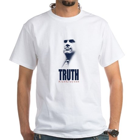 Truth. Alan Grayson. White T-Shirt