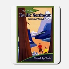 Pacific Northwest Travel Poster 2 Mousepad