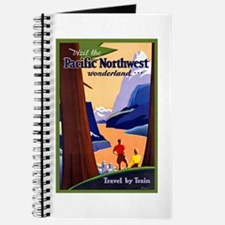 Pacific Northwest Travel Poster 2 Journal