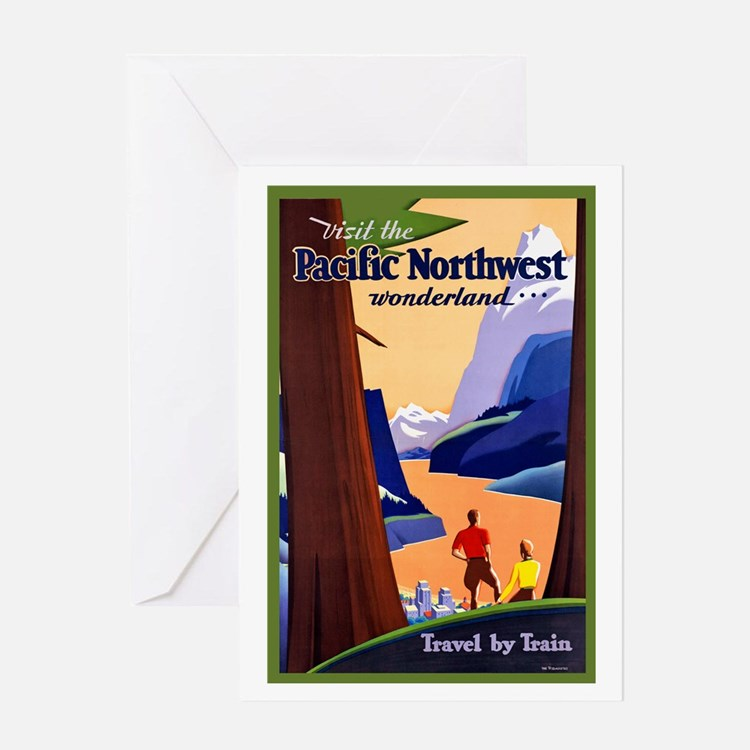 Postcard Quotes Travel: Pacific Northwest Greeting Cards