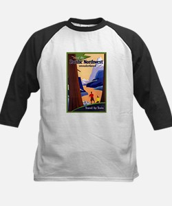 Pacific Northwest Travel Poster 2 Tee