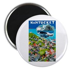 Massachusetts Travel Poster 1 Magnet