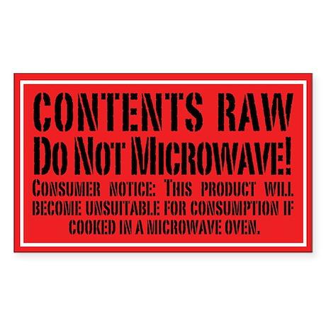 Do Not Microwave! 3x5 Sticker