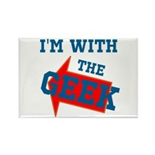 Im With The Geek Rectangle Magnet