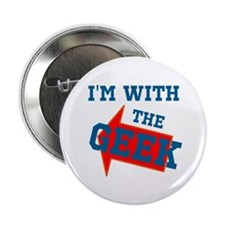 """Im With The Geek 2.25"""" Button"""