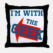 Im With The Geek Throw Pillow