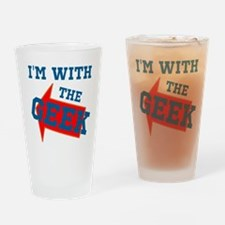 Im With The Geek Drinking Glass