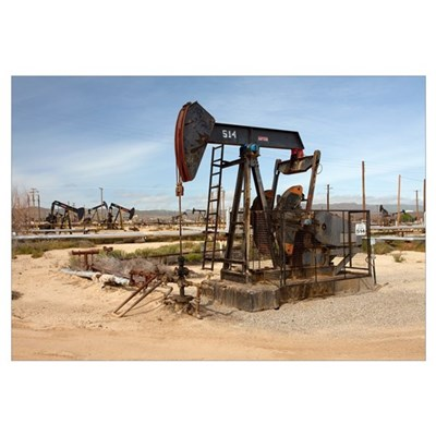 Oil pump in California Canvas Art