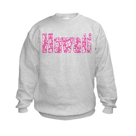 Hawaii/Pink Hibiscus Kids Sweatshirt