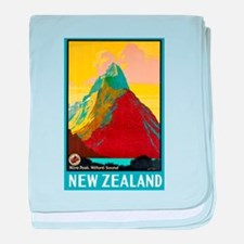 New Zealand Travel Poster 7 baby blanket