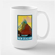 New Zealand Travel Poster 7 Large Mug
