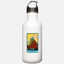 New Zealand Travel Poster 7 Water Bottle