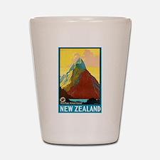 New Zealand Travel Poster 7 Shot Glass