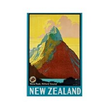New Zealand Travel Poster 7 Rectangle Magnet
