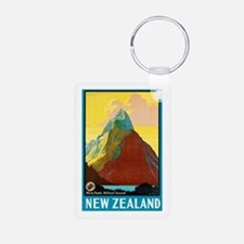 New Zealand Travel Poster 7 Keychains