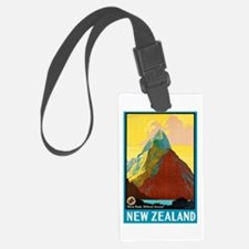 New Zealand Travel Poster 7 Luggage Tag