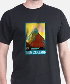 New Zealand Travel Poster 7 T-Shirt