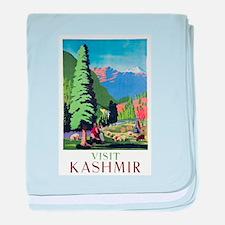 Kashmir Travel Poster 1 baby blanket