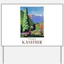 Kashmir Travel Poster 1 Yard Sign