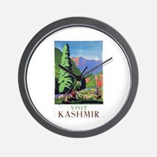 Kashmir Travel Poster 1 Wall Clock