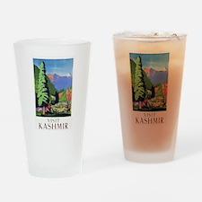 Kashmir Travel Poster 1 Drinking Glass